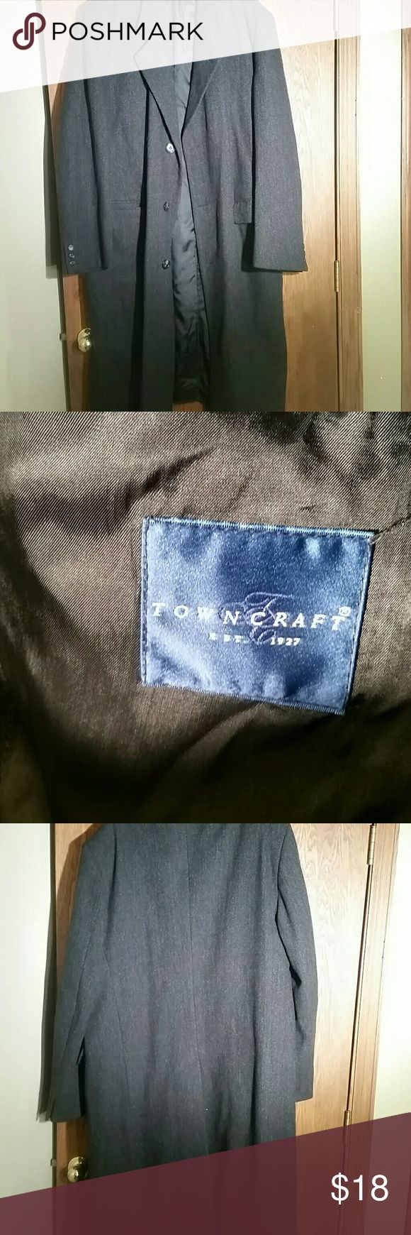 Men Dress Coat by Town Craft Size 44 L Excellent condition Towncraft Jackets & Coats Trench Coats