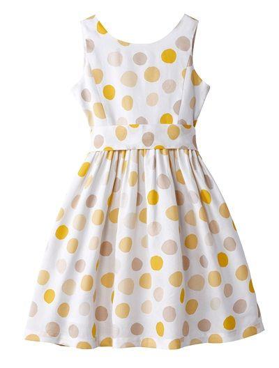 La robe blanc et jaune