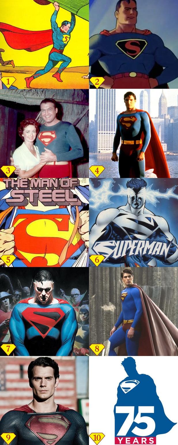 The evolution of Superman's 'S' symbol. (Digital Spy)