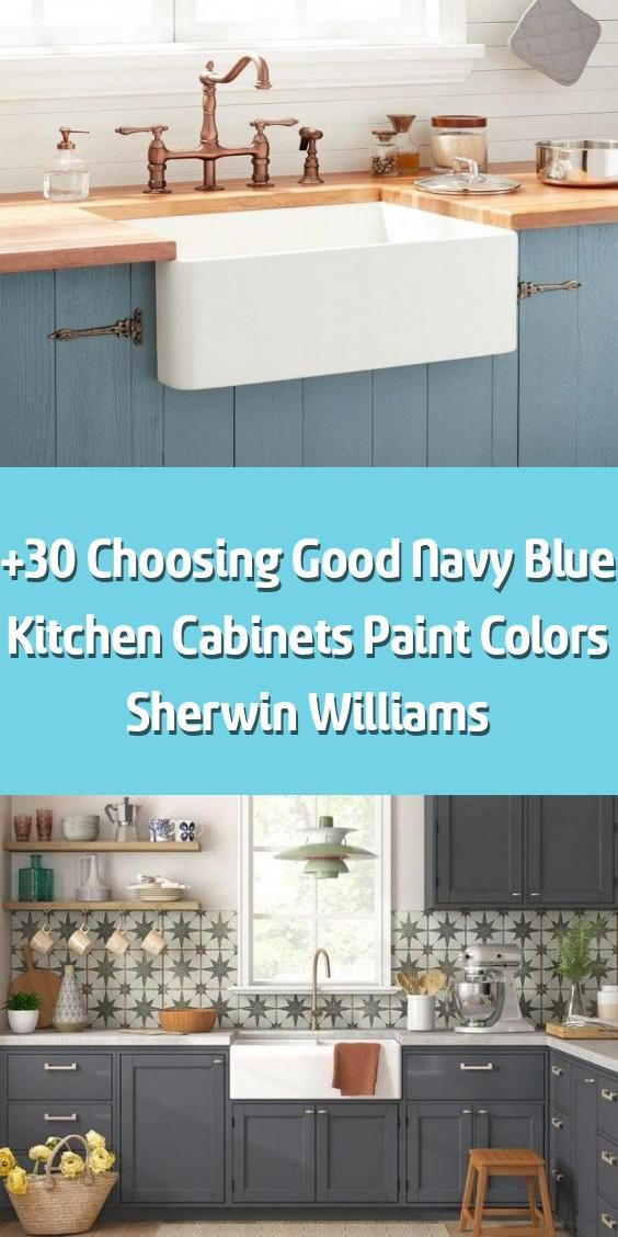 +30 Choosing Good Navy Blue Kitchen Cabinets Paint Colors ...