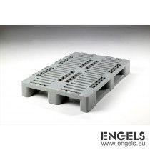 Kunststof Euro H1 pallet 1200x800x160 mm, 3 sleden, z. middenkruis