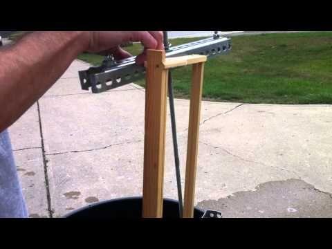 homebuilt 2 frame honey extractor - YouTube