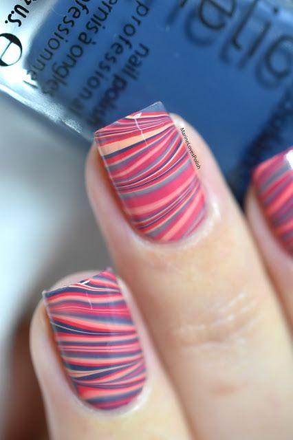 Marine Loves Polish: Nailstorming - Watermarble [VIDEO TUTORIAL] - candy watermarble nails - colorful watermarble nail art