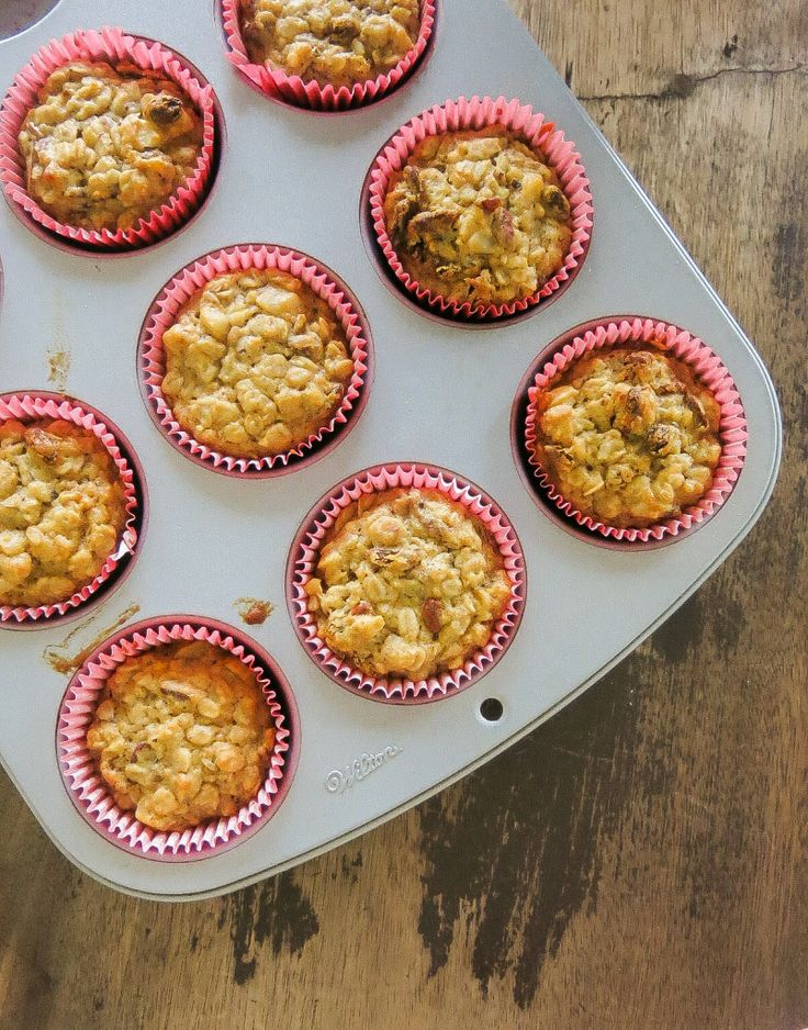 Muffin de aveia, maçã e mel - Uma receita deliciosa para o seu café da manhã.