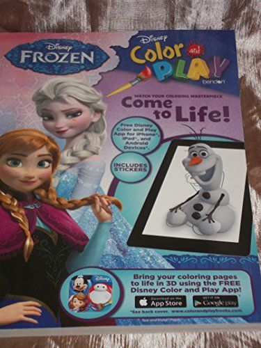 Disney Frozen Color And Play Super Activity Coloring Pad