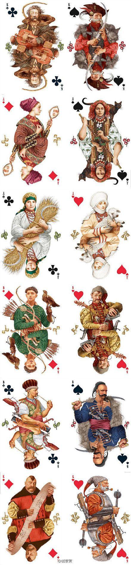 Playing Cards - Ukrainian Playing Cards - playingcards, playingcardsart…