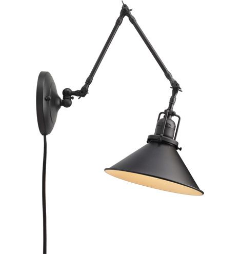 I'd love these for bedside lamps! Wallace Pin-Up Swing-Arm Wall Fixture @Rejuvenation
