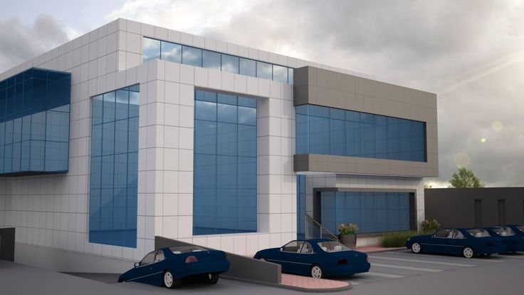 commercial office exterior elevation