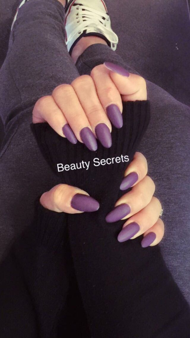Matte purple acryl nails #handsonfleek #ownmade insta: @hands_on_fleek_  #nailpolish www.instagram.com/sandraxbtb