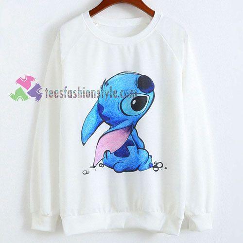 cute stitch Disney sweatshirt sweater tshirt unisex adult size S-3XL