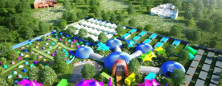 the accommodation village - Hostivals festival accommmodation