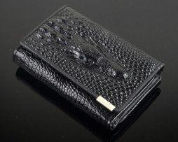 Dámska kožená peňaženka s 3D krokodílim vzorom (4)