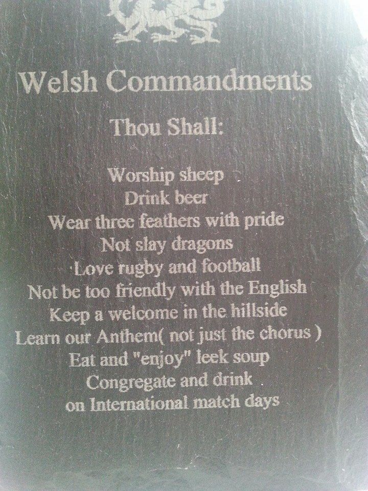 Live By, the Welsh Commandments