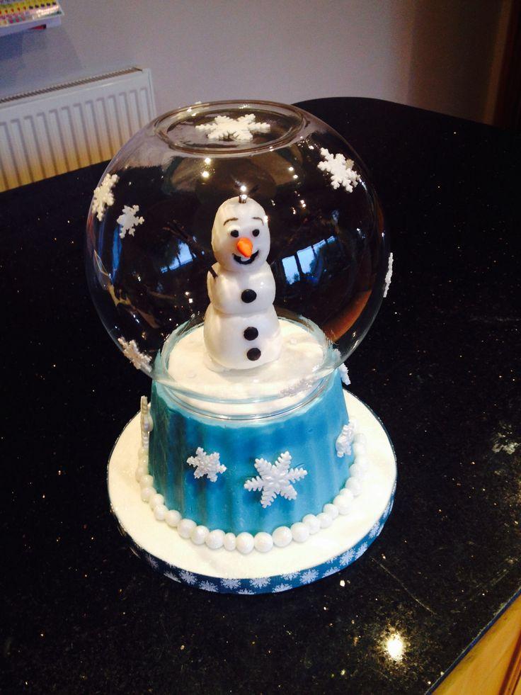 Frozen snow globe cake made for the lovely Hannah x