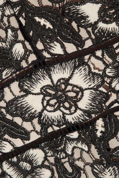 Alice Olivia - Tinsley Guipure Lace Playsuit - Black - US6