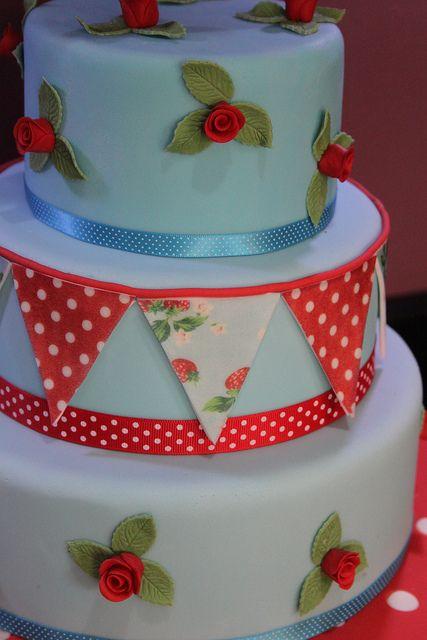cath kidston cake by Andrias cakes scarborough, via Flickr