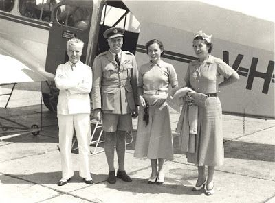 Indonesia Australia Report: Charlie Chaplin in Jakarta highlights the first Qantas international passenger route