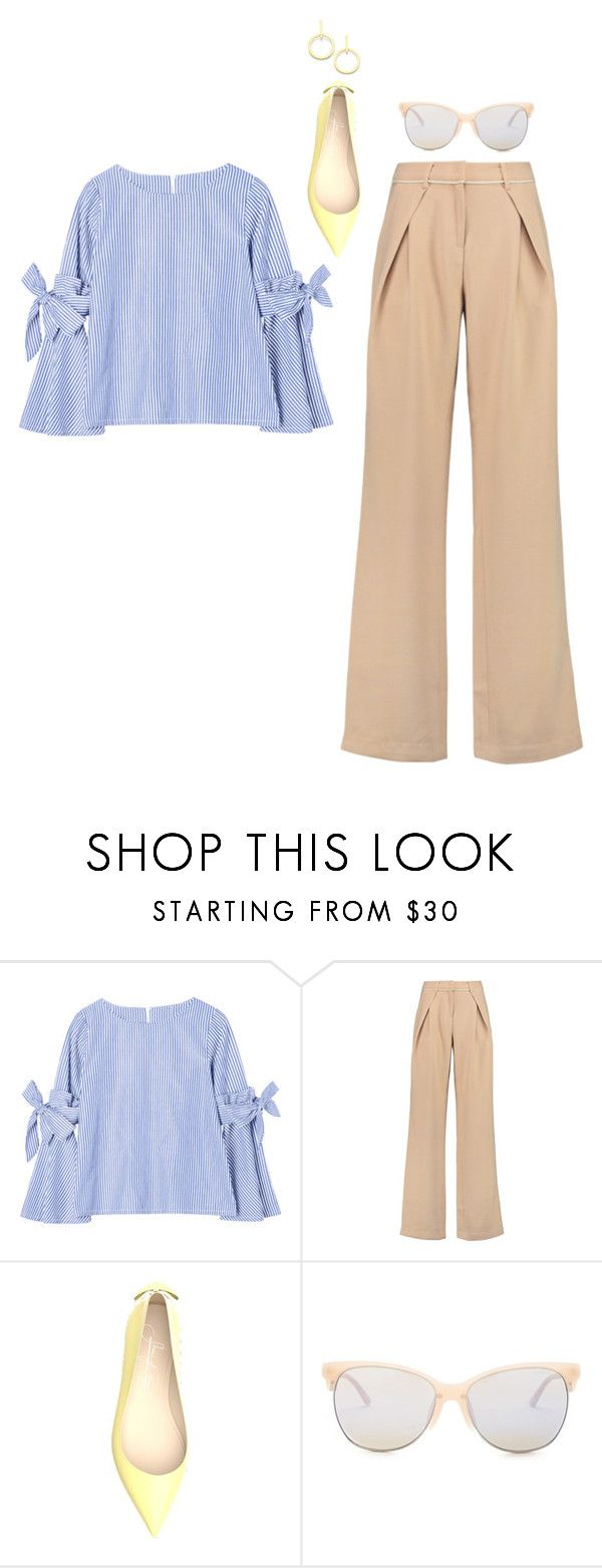 """""""Untitled #1749"""" by yurithisandthat ❤ liked on Polyvore featuring self-portrait, Shoes of Prey, Smith Optics and Vita Fede"""