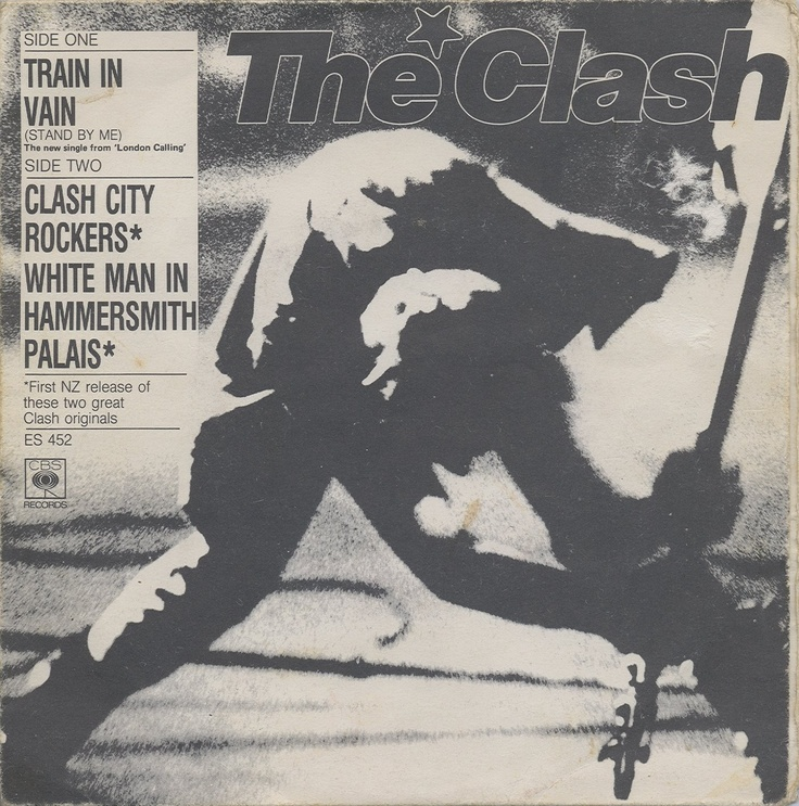 "The Clash - Train In Vain [1979, Epic ES 452│New Zeland] - 7""/45 vinyl record"