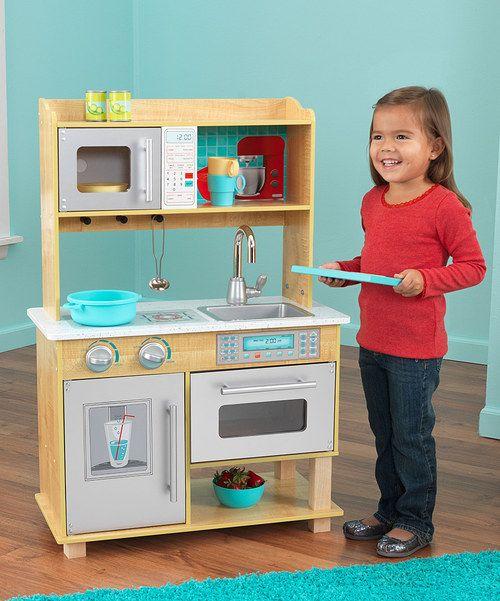Natural Toddler Kitchen Play Set