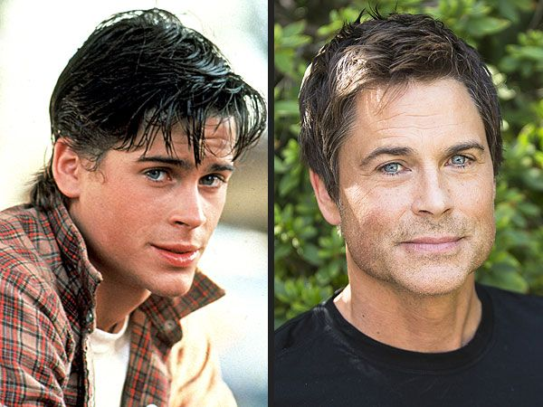 Photo Evidence That Rob Lowe Is an Ageless Wonder <3 Rob Lowe in 1983's The Outsiders (left), Rob Lowe at an October 2013 press junket (right)