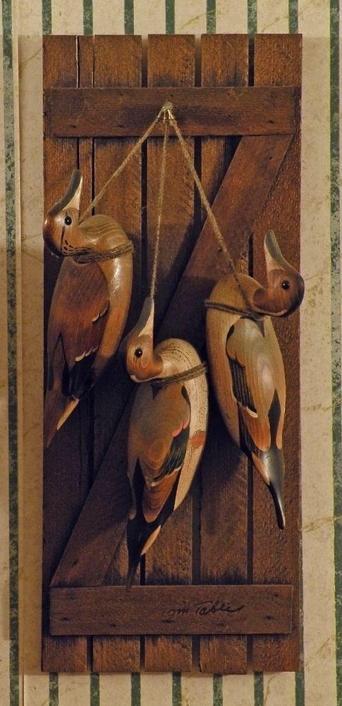 Handmade – Rare 'Three Hanging Duck Decoys' by Tom Taber