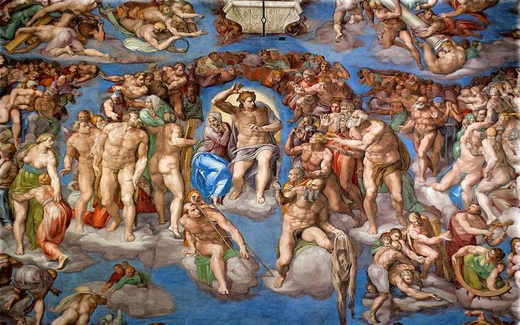 Resultado de imagen de juicio final (capilla sixtina)
