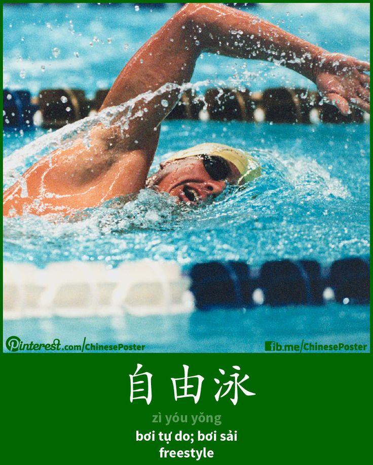 自由泳 - zì yóu yǒng - bơi sải, bơi tự do - freestyle