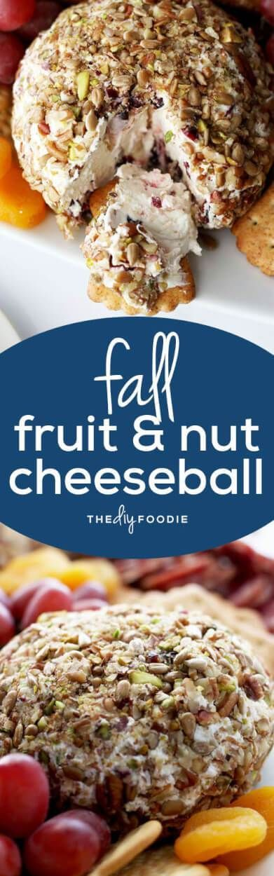 Fall Fruit and Nut Cheeseball –