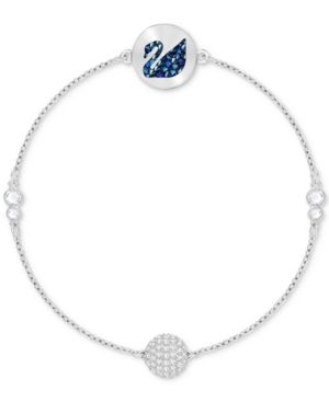 a92e56a172bdf Swarovski Remix Collection Silver-Tone Crystal Swan & Orb Magnetic ...