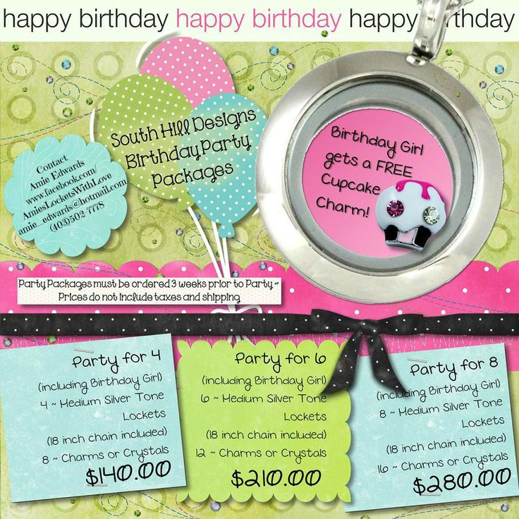 Birthday Party Packages! Medium Silver Lockets
