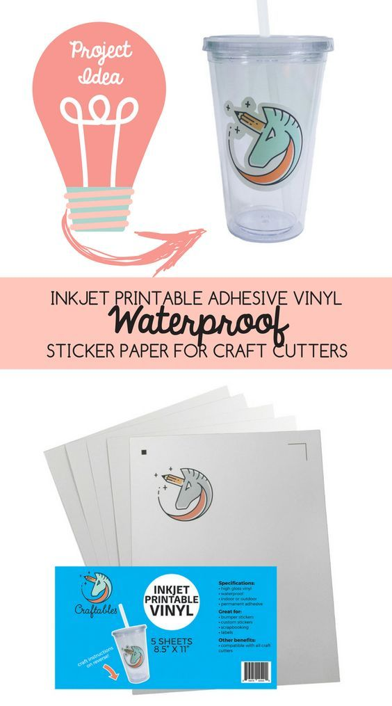 Inkjet Printable Adhesive Vinyl Waterpoof Sticker Paper for Craft