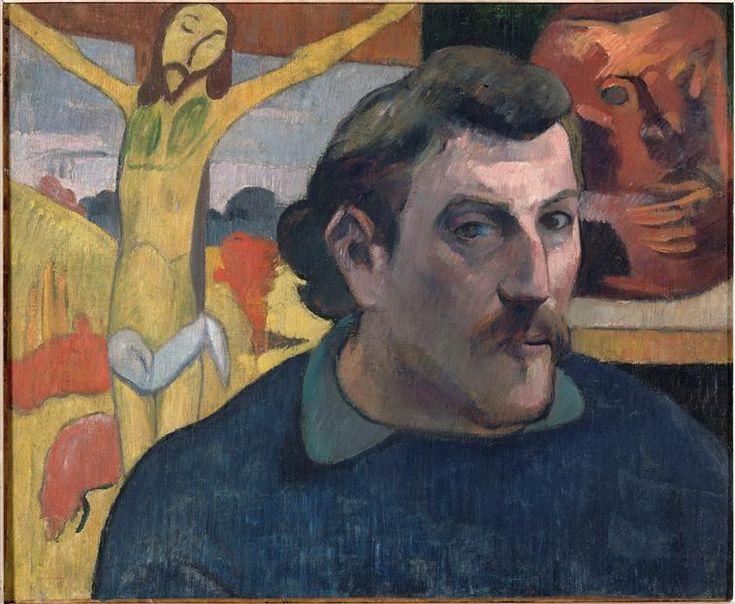 Paul Gauguin   Autoportrait au Christ jaune   Images d'Art