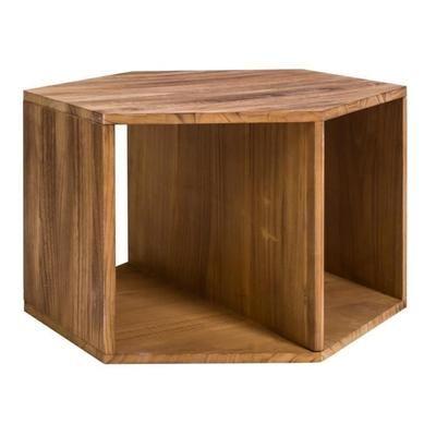 Mobili Rebecca® Table basse Hexagonale Bois Marron Clair Moderne Sejour Lounge Chambre - Achat / Vente table basse Mobili Rebecca® Table basse - Cdiscount