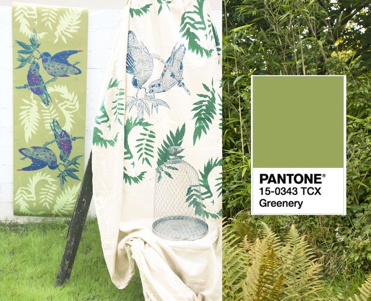 Artisan hand screen printed wallpapers  Pantone Greenry colour of the year Bespoke collections printed with passion in Bristol www.addictedtopatterns.uk