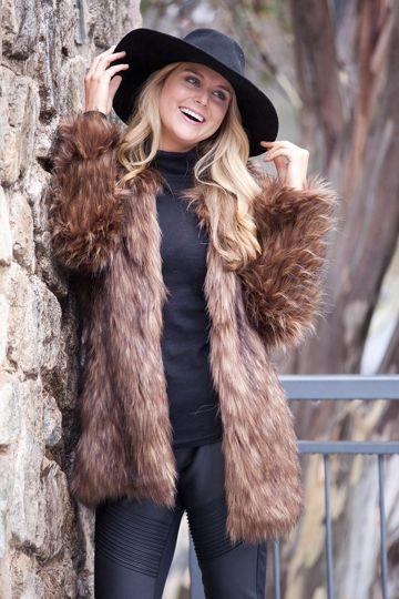 Unreal Fur Wanderlust Coat. Faux fur winter style.
