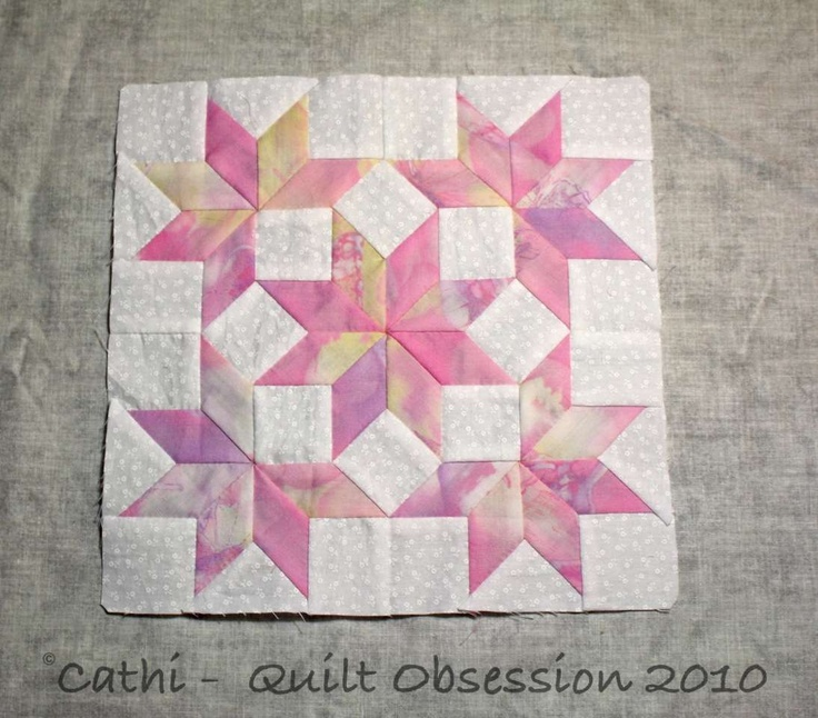 snow crystals quilt block - Google Search