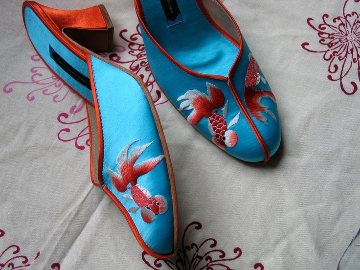 Pond heel shoes from Suzhou Cobblers shop in Shanghai.