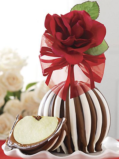 zsazsasitlist:    Mrs. Prindable's  see more here: Red Rose Caramel Apple