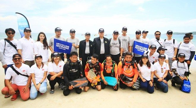 Recycling project born on Samet : TTR Weekly SAMET ISLAND, Rayong, 5 September 2017:  The Tourism Authority of Thailand officially kicked off the 'Upcycling the Oceans, Thailand' project on Monday.