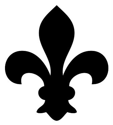 Fleur de Lis Sawn Shape, textured  Vintage Clip Art - Fleur De Lis - 3 Options - The Graphics Fairy