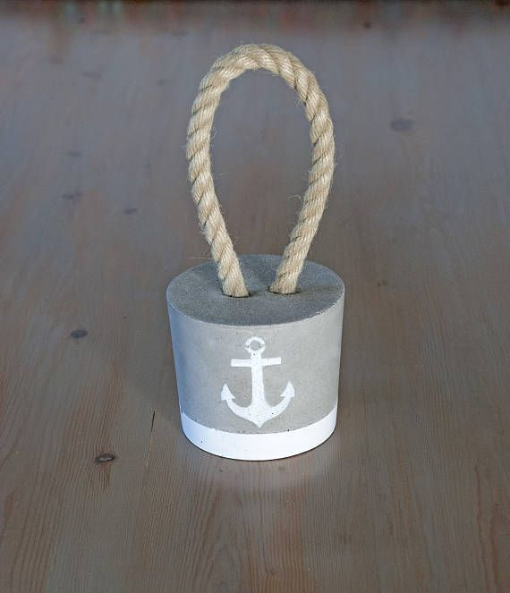 Items similar to Concrete rope door stopper – Home decoration – Minimal gift idea – Modern decor – Industrial homemade door stop – Beach house furniture on Etsy