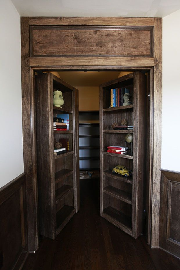 A secret library! This is just one of the features in a 3 Pillar Homes model in the 2012 Parade of Homes.