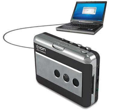 Ion Tape Express - Walkman-like device converts cassettes to MP3