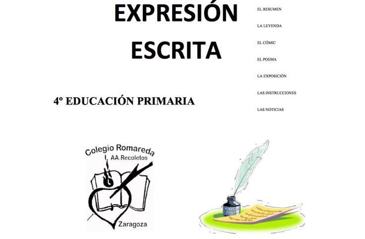 CUADERNO DE EXPRESIÓN ESCRITA PARA 4º DE E.P.