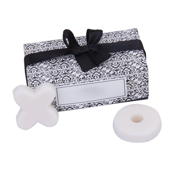 Trendy Cute Scented Soap Wedding Favors for XO Gift Party Baby Shower White