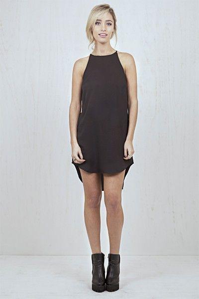 Christine Cami Singlet Dress Black   Nelly & Me