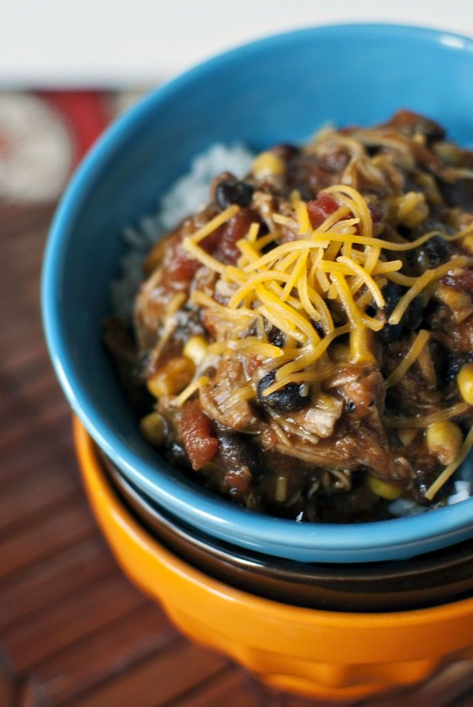 Slow Cooker Chicken Taco Chili ... I like the bowls, too! We make this ...