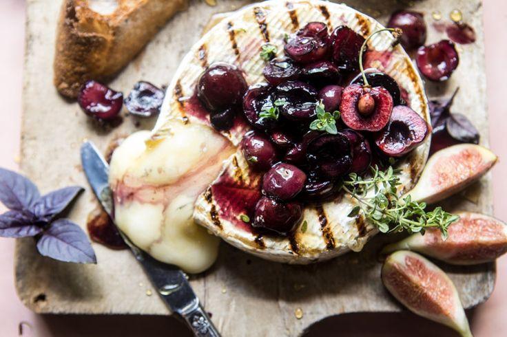 Honey Thyme and Sweet Cherry Grilled Brie | halfbakedharvest.com @hbharvest