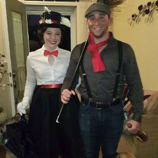 Couples costume: Merry Poppins and Bert!